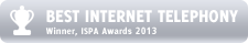 BEST INTERNET TELEPHONY - Winner ISPA Awards 2013